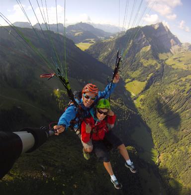 faire du parapente en tandem en suisse
