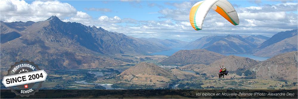 vol biplace en nouvelle-zélande